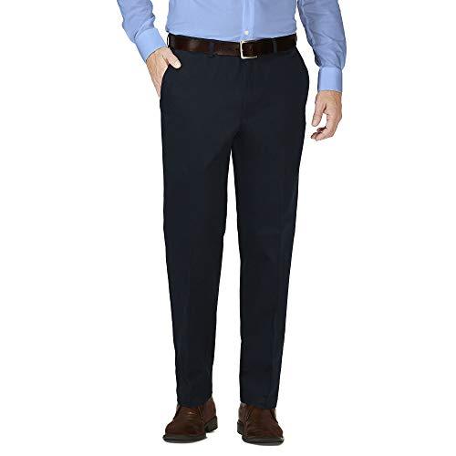 Pembrook Mens Dress Pants Expandable Waist - Dress Slacks for Men -Travel, Golf, Business Navy