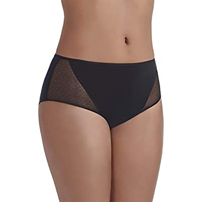 Vanity Fair Women's Breathable Luxe Hipster Panty 18180, Midnight Black, Large/7