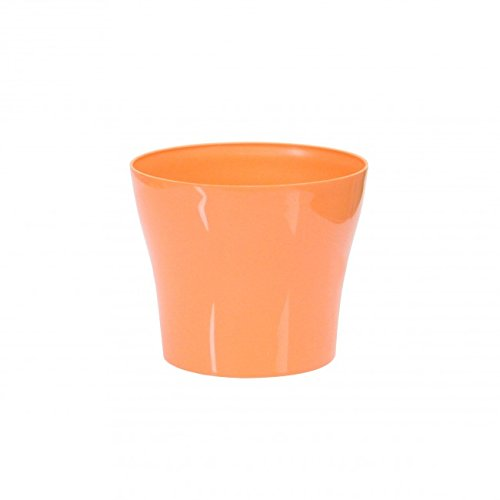 Plastkon Déco Pot Tulipan, diamètre 19 cm Orange