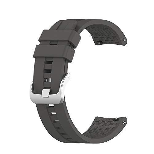 BAAIFC Correa de muñeca de 22 mm para Huawei Watch GT GT2 de 42 mm y 46 mm, correa de reloj inteligente, correa deportiva (color de la correa: gris, ancho de la correa: para honor Magic)