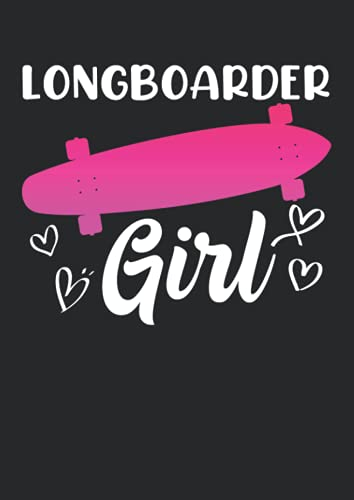 Notizbuch A4 liniert mit Softcover Design: Longboarder Girl Fruaen Skateboard Geschenk Skater Girl: 120 linierte DIN A4 Seiten