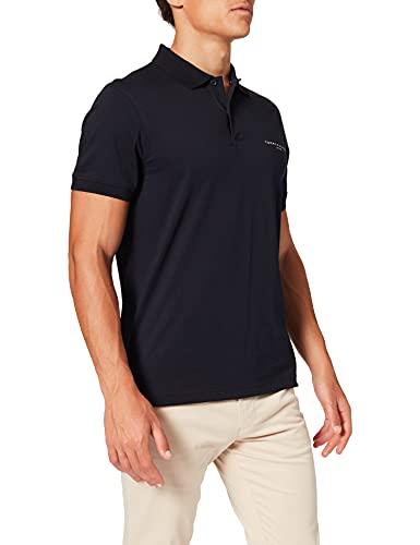 Tommy Hilfiger Clean Jersey Slim Polo Camisa, Cielo del Desierto, XS para Hombre