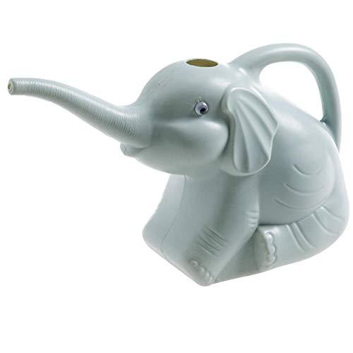 Dakeam Elefant Gießkanne Zimmerpflanze Gießkanne neuartige Kinder-Gießflasche mit langem Garten-Gießkanne aus Kunststoff (0,5 Gallonen) Blau