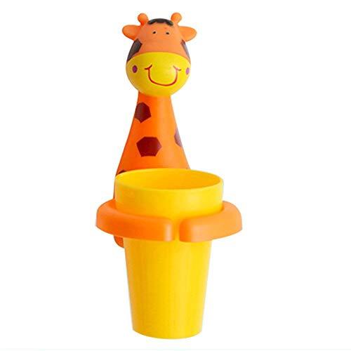 Ablerfly Zahnbecherhalter, niedliche Tier-geformte Zahnbürstenhalter, Cartoon-Löwe Giraffe Zebra Zahnbürstenhalter und Halter für Zuhause, Reinigungsmittel für Babys und Kinder