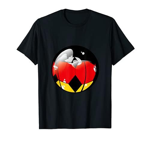 Deutschland Fußball Flagge Fahne Soccer Trikot T-Shirt