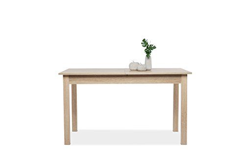 Esstisch Küchentisch (4 Größen wählbar) inkl. erweiterbare Auszugsplatte