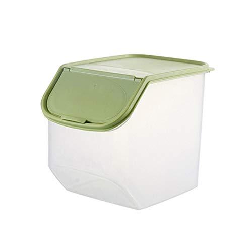 Lamptti Trockenfutterbehälter - Große Lagerung Kunststoff Getreide Haustier Hund Katze Dispenser Aufbewahrungsbox Küchenschrank Veranstalter