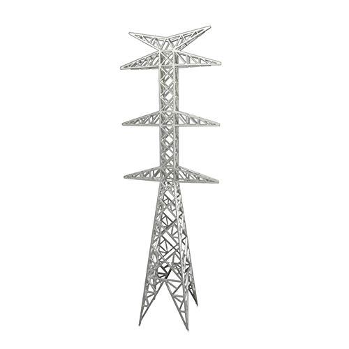 SJUAN Tower-Modell, Gebäudemodell Landschaft Sendeturm Kabelturm hornförmige Turm,H60cm