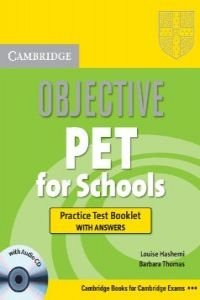 Objective pet for schools test bklet key/cd