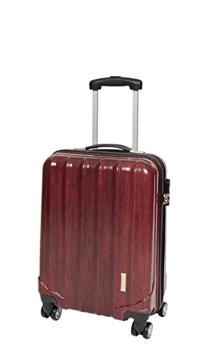 4 Wheels Cabin Size Hand Luggage Built-in Lock Strong Hard Shell Suitcase Travel Bag A403 Red