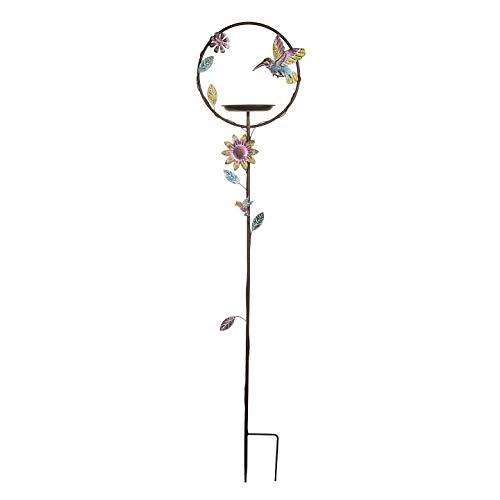 Darice 30017989 Iron Trellis Garden Stake, 54.5-inch High, Multicolor