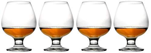 Epure Collection 4 Piece Glass Set - For Drinking Brandy, Bourbon, and Wine (Brandy (13.25 oz))