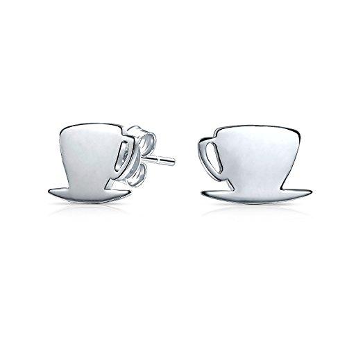 Winzige Lebensmittel Latte Espresso Cafe Kaffee Liebhaber Ohrstecker Für Frauen Für Teen 925 Sterling Silber