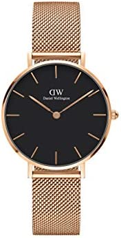 Daniel Wellington Petite Melrose Watch, Rose Gold Mesh Bracelet