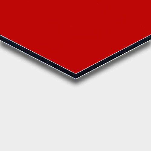 Alu DILITE® Platte rot für Schilder, Wegweiser, Displays am POS, Trennwände, Messebau, Maße: 50 x 25 cm, Stärke: 3mm