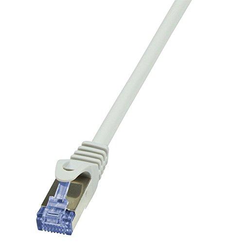 LogiLink CQ3032S CAT6A S/FTP patchkabel PrimeLine AWG26 PIMF LSZH grijs 1,00m