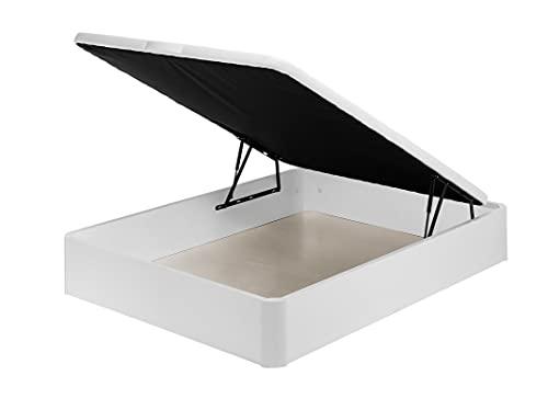 Santino Canapé Abatible Wooden Gran Capacidad Blanco 150x200 cm con Montaje a Domicilio Gratis