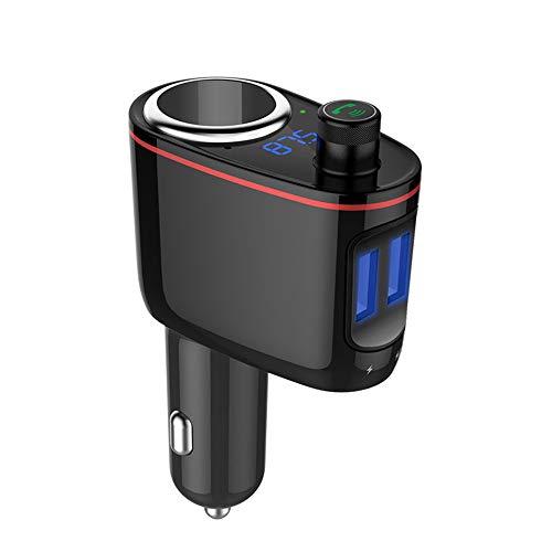 SSZZ Dual-USB-Zigarettenanzünder-Typ Bluetooth-Freisprecheinrichtung fürs Auto, MP3-Player, FM-Sender für das iPhone Samsung Galaxy HTC Ipad