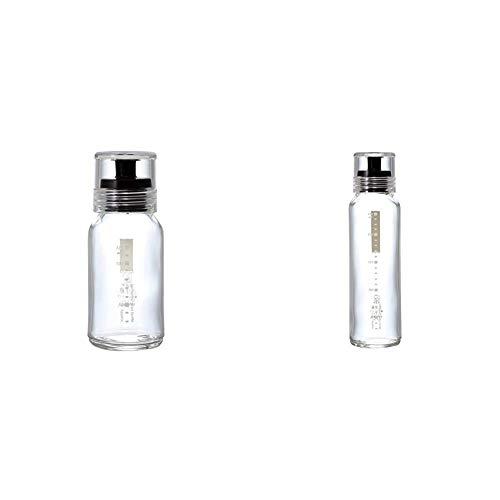 【セット買い】HARIO (ハリオ) ドレッシング ボトル スリム 120ml +240ml ブラック