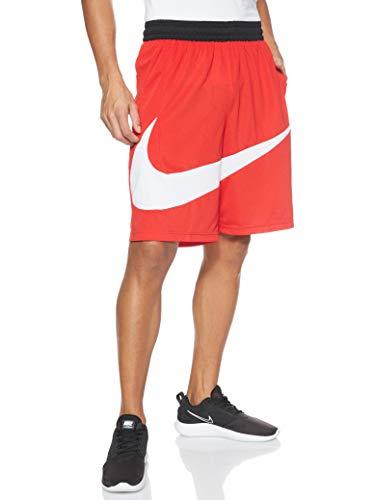Nike PRO Dri-Fit Hbr Shorts Pantaloni, Rosso (University Red/White), M Uomo