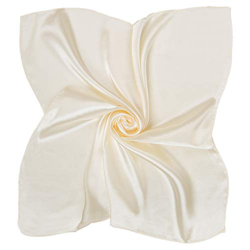 Heyjewels Damen Elegante Schal Uni Tuch Bandana Halstuch kleiner Kopftuch Quadratischer Schal in Verschiedene Farben