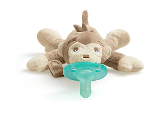Philips Avent Soothie Snuggle Pacifier Holder with Detachable Pacifier, Monkey, 0m+