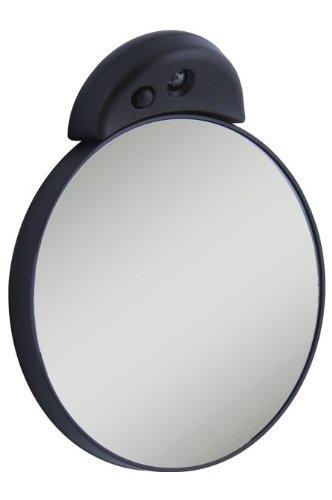 Petit miroir grossissant 15x avec lumière LED et 3 ventouses