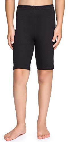 Merry Style Mädchen Kurze Leggings aus Baumwolle MS10-227 (Schwarz, 152 cm)