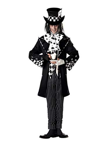California Costumes Men's Dark Mad Hatter Costume,Multi,X-Large
