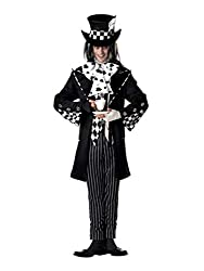 commercial Men's California Costume Dark Mad Hatter Costume, Multi, Large new mens costumes