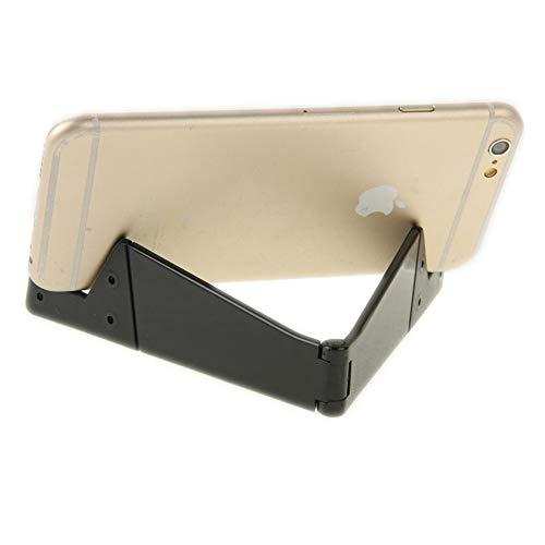 offershop Supporto Tascabile Universale Pieghevole Porta Poggia Cellulare Smartphone Tablet Ebook da Tavolo Scrivania Desktop Cellulari Compatibile con iPhone iPad Samsung Huawei (Nero)