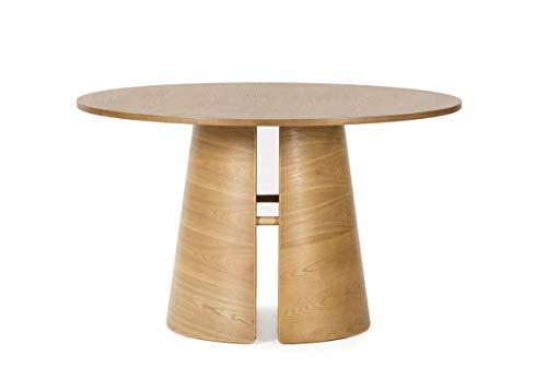 ambiato Design Esstisch Cep Eiche Furnier Natur 137cm Konferenztisch Tisch Rund Teulat