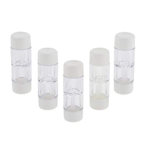 P Prettyia 5 Stück Kontaktlinsenbehälter für Harte Kontaktlinsen/RGP Kontaktlinsen Großpackung - Weiß, wie beschrieben