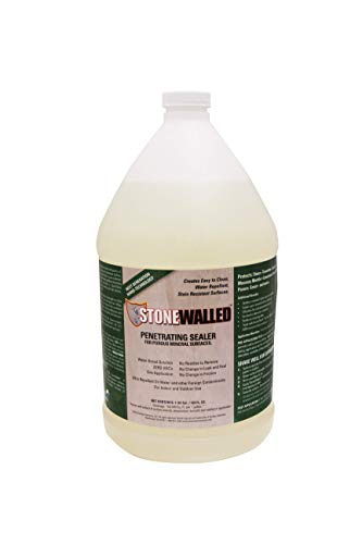 Surface Solutions STNW-128 Stonewalled Penetrating Sealer for Stone & Grout, 1 Gallon