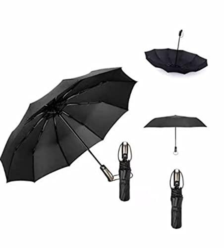 Silaite Parapluie Pliant, Parapluie Pliable Noir Automatique Ouverture et Fermeture Résistant à Tempête Compact Léger Parapluie de Voyage pour Homme et Femme,Téflon 210t,Idéal en Voyage