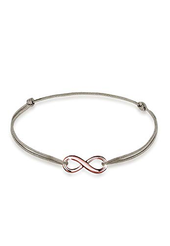 Elli Armband Damen Infinity Unendlichkeit Anhänger Trend in 925 Sterling Silber