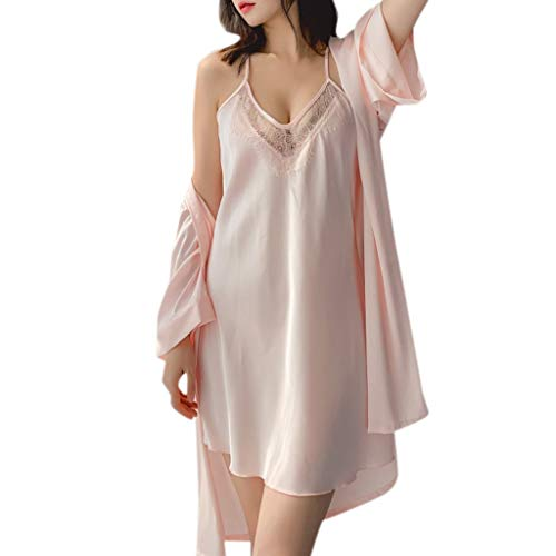 TYTUOO Damen Sleepwear Pyjamas Sexy Unterwäsche V-Kragen Robe Dessous Sling Nightgown Sleep Dress