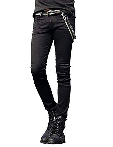Pantalones Vaqueros Del Punk Del Hipster De Slim Fit Los Hombres Pantalones Vaqueros De La Danza Con Los Pantalones Casuales De La Cadena Pantalones Vaqueros Delgados Del Estiramiento Pantalones