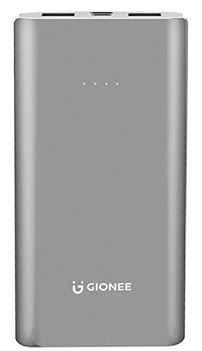 Gionee 10000mAh Li-Polymer Slim Design Power Bank with Power Indicators and 2 Output Ports (Fast Charging, 12W) PB10K2 (Metallic Blue)