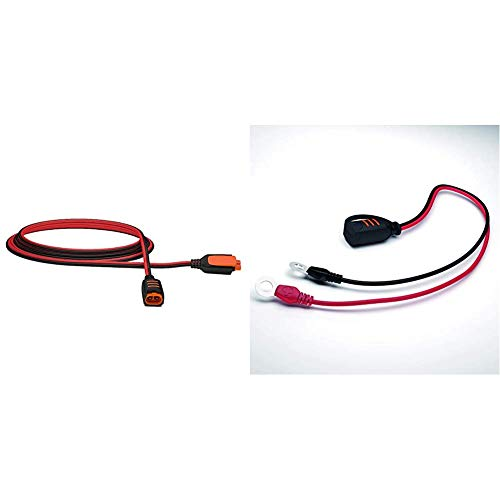 CTEK 40-134 CT5 Verlängerungs-Kabel, 2.5 m & Comfort Connect Direct Connect Adapter (M8 Muttern), Ideal Für Schwer Erreichbare Batterien, 40cm Kabellänge
