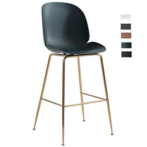 KMMK Schreibtisch Stühle, Barhocker Zähler Stuhl Make-Up Hocker On-Trend Küche Und Frühstück Barhocker Kreatives Design Homescapes Sitz 63 / 73Cm Hoch,# 5,63Cm