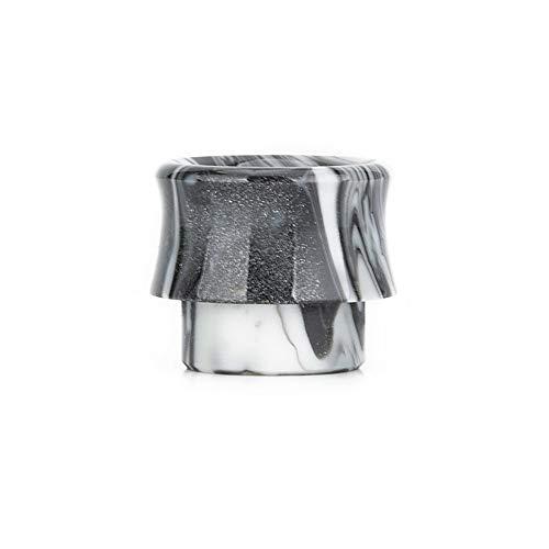 Farbharz 810 Tropfspitzenmundstück für E-Zigarette 810 Zerstäuber Fit Goon V1.5/528 RDA-Puls 24 BF RDA RDTA Etc Frei von Tabak und Nikotin (Color : Gray in White)