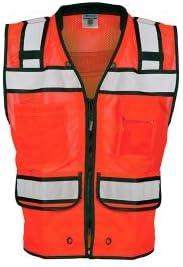 ML Kishigo S5704 Black Series Surveyor Safety Vest - Fluorescent Red 3XLarge (1 Unit)