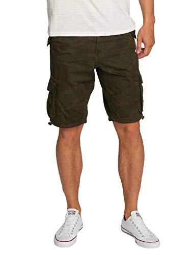 Brave Soul Herren Hosen Shorts Herren-Short Sport-Shorts Kurze Hose Bermuda Sommer Camouflage George (Grün, L)