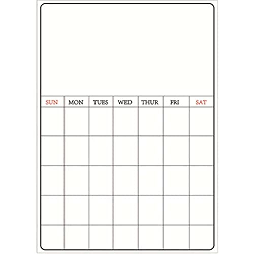 zhaita Monthly Planner Simple Magnetic A3 Weekly Planner Refrigerator Board for Fridge