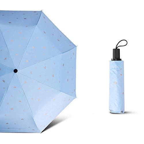 Umberllas Mini Travel SUNRAIN Windsicher Durable Regenschirm Leichte Kompakter beweglicher Sonnenschirm im Freien Regenschirme (Farbe: Blau, Größe: Free) (Farbe: Weiß, Größe: Free) XYXG