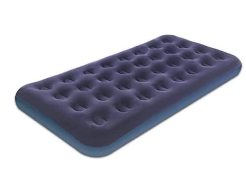 N\C Colchón inflable de viaje portátil azul inflable con parte superior flocada. Cojín de aire plegable para tienda de campaña familiar viaje mochila