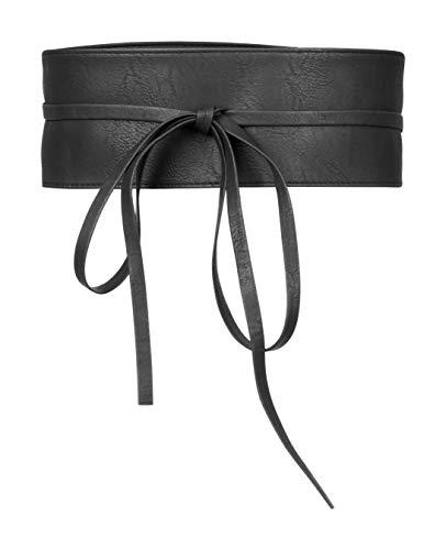 BlackButterfly Obi Pretina Atar Cinturón de Cincha (Negro, talla única)