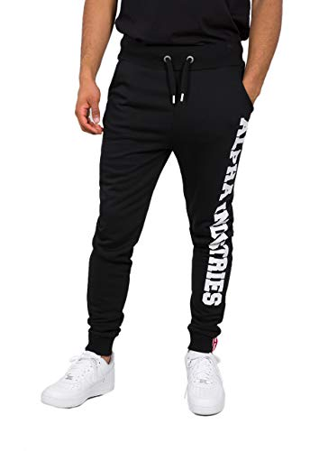 ALPHA INDUSTRIES Herren Jogginghosen Big Letters schwarz XL