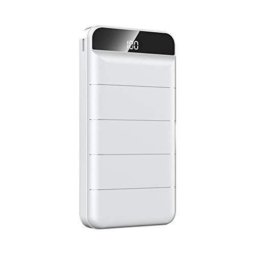 Cargo rápido 3.0 10000mAh Power Bank USB Tipo C PD 10000 PowerBank Cargador de batería Externo portátil para Xiaomi iPhone Huawei,Blanco,20000mAh